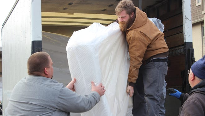 Twenty Tempur Sealy mattresses were donated on Feb. 8, 2018, to families affected by a three-alarm fire in a south-side apartment complex.