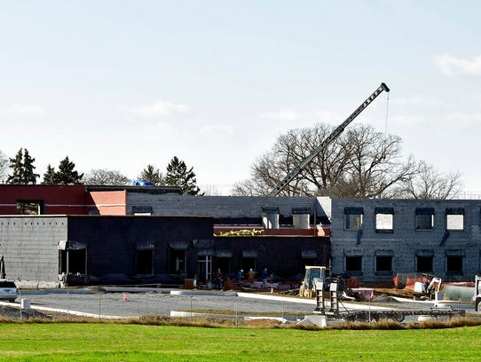 The new Marion Elementary School is currently under
