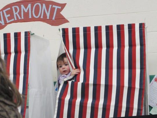 Francesca Montague, aged 14 months, of Huntington,