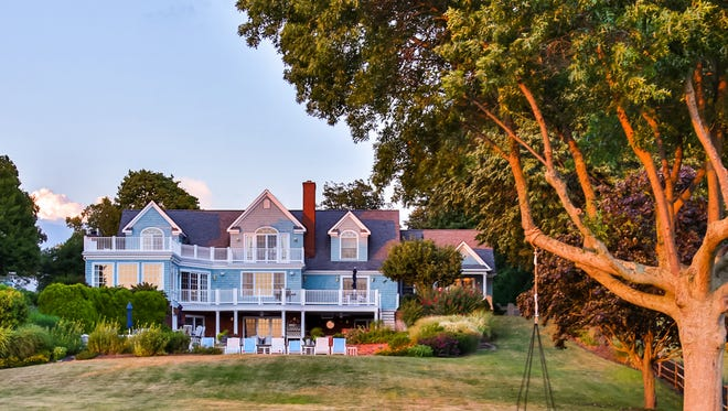 This Fair Haven mansion sits on the banks of the Navesink.