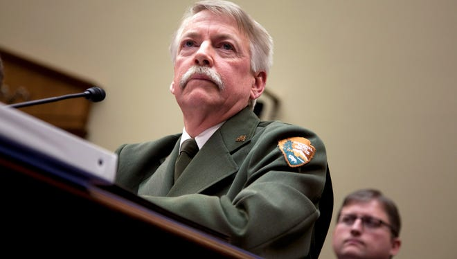 National Park Service Director Jonathan Jarvis testifies on Capitol Hill in Washington, Tuesday, Jan. 24, 2012, before the House Oversight and Government Reform Committee hearing.