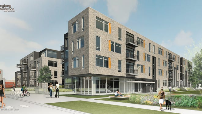 Construction will begin in June on the upscale Element 84 apartment development near State Fair Park, in West Allis.