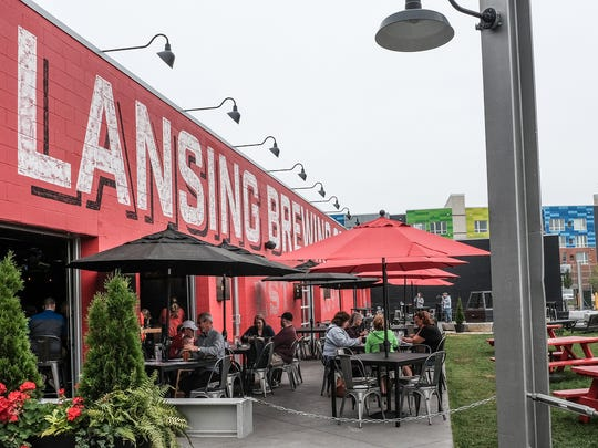 Lansing Brewing Company features several rooms including an outdoor patio.