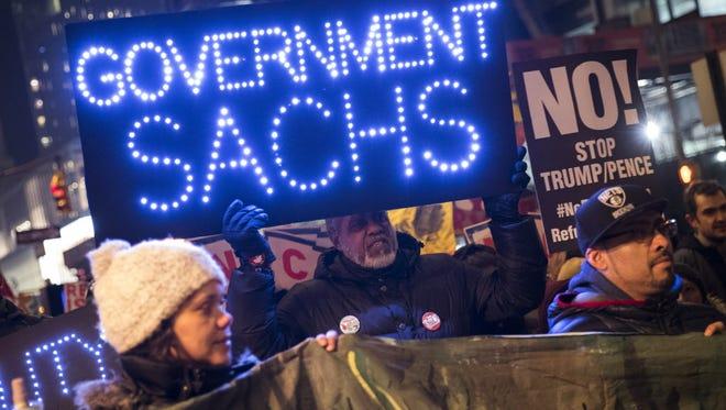 Protest in New York in 2017.