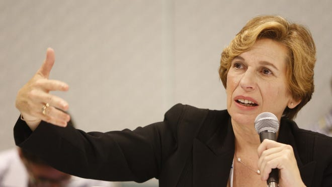 American Federation of Teachers President Randi Weingarten speaks at an ATF convention in Los Angeles in July.