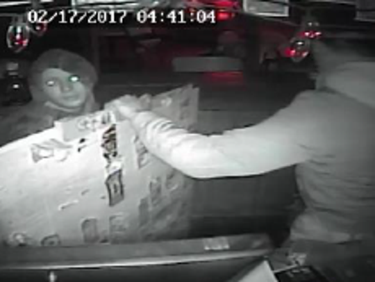 A surveillance camera provided a look at the burglars