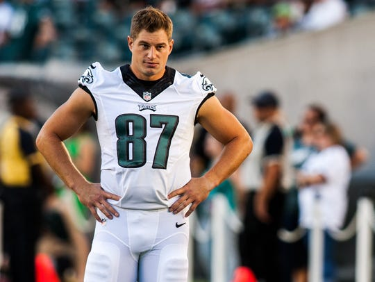 Tight end Brent Celek is the only present Eagle who played in the team's last NFC title game nine years ago.