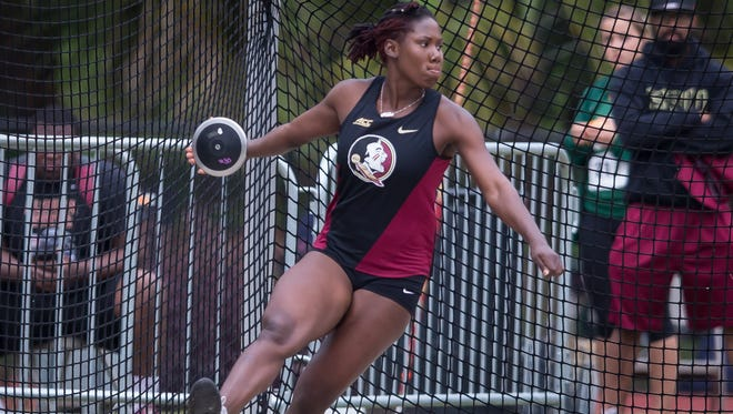 Kellion Knibb broke a 30-year-old track record in the discus Friday at the Seminole Invitational.