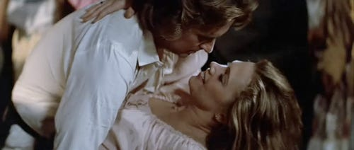 Michael Douglas and Kathleen Turner in