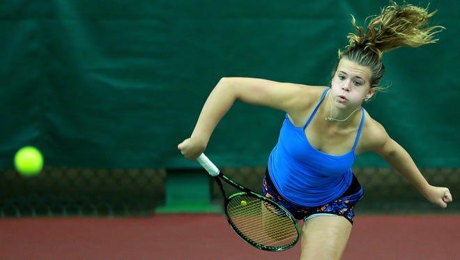 Kenosha St. Joseph senior Claire Czerwonka won her third straight Division 2 state tennis title Saturday in Madison.