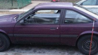 The two men drove this vehicle while committing burglaries, according to police.