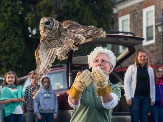 Centre Wildlife Care rehabilitator Robyn Graboski releases