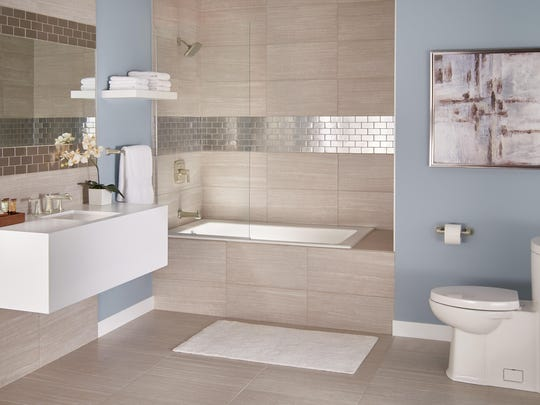 Leave your tub/shower, sink and toilet where they've always been. You can upgrade to newer models without having to have the plumbing rerouted. Brandpoint