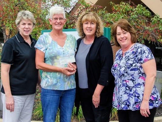Horseshoe club donation to hospice