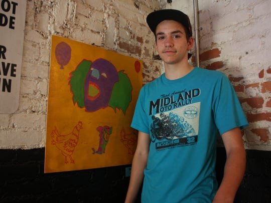"Stanley Bowers, 14, of Windsor enjoys creating ""weird"""