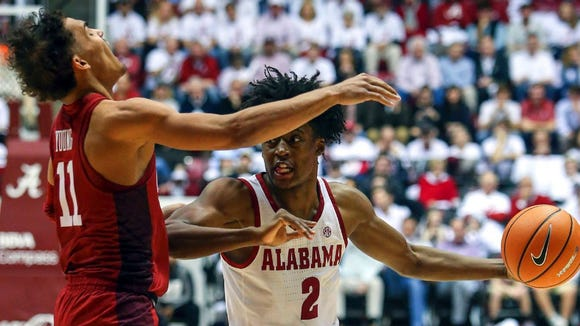 Collin Sexton scored 18 points in Alabama's win over Trae Young and the Oklahoma Sooners last season.