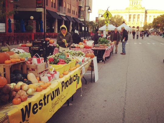 Cindy and Mark Westrum are starting their 23rd season at the Downtown Farmers' Market.