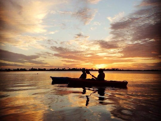 Four Mile Cove Ecological Preserve is the place to go for a moonlight paddle.