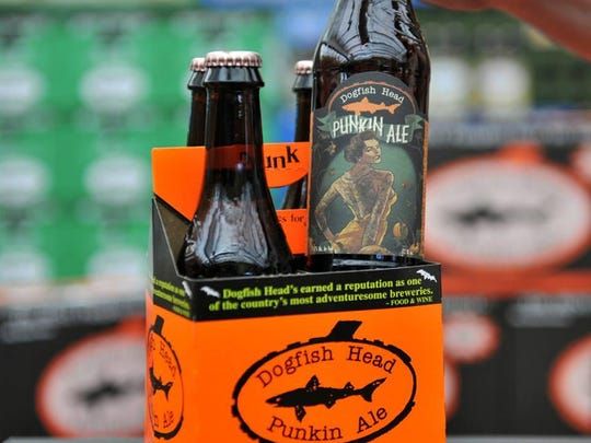 """Dogfish Head's 2015 Punkin Ale has a new label. The Milton brewery is now selling Punkin Ale T-shirts and soap made with Punkin Ale. Dogfish says the soap's aroma """"reminds us of autumn."""""""