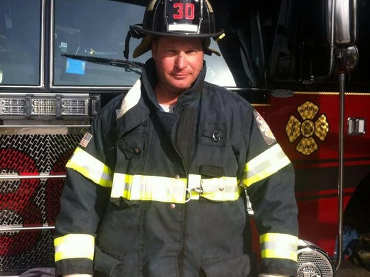 Kenny Veid, a local iron worker and volunteer firefighter with the Belvedere Fire Company.