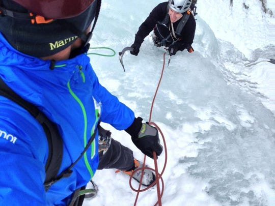 Steve Cook trained in Ouray, Colorado, to prepare for the icy mountain conditions in Nepal.