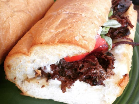 Pot Roast Po' boy from Villager's Cafe in Maurice.