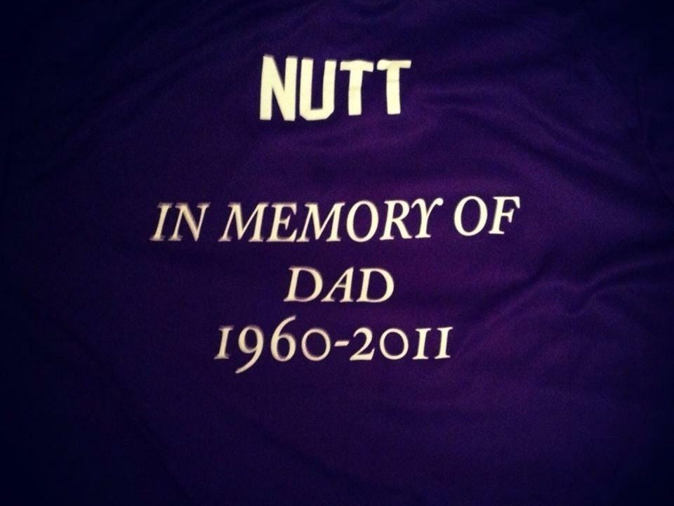 """Ionia High School senior Justin Nutt will be playing for his father during Monday's """"Purple Match."""" Nutt lost his father, Chris, to lung cancer a few years ago."""