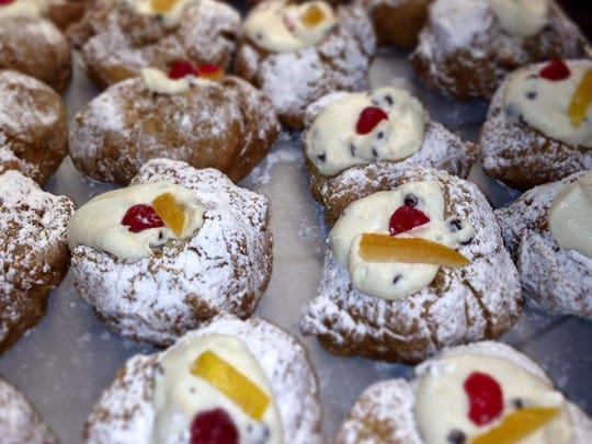 St. Joseph's Day pastries from Cammareri's Famous Brooklyn Bakery and Cafe in the Ramtown section of Howell.