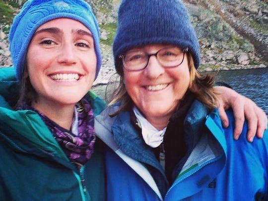 Sue Cerulean, right, traveled with her niece Erin Canter to spend a week in Standing Rock.