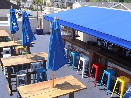 The rooftop deck at Reef & Barrel in Manasquan.