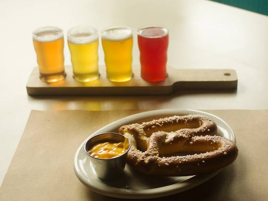 The hot pretzel appetizer at Brickwall Tavern in Asbury Park.
