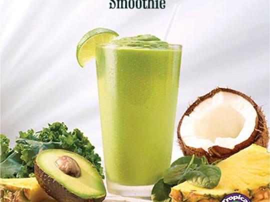Avocolada, new to the menu at Tropical Smoothie Cafe