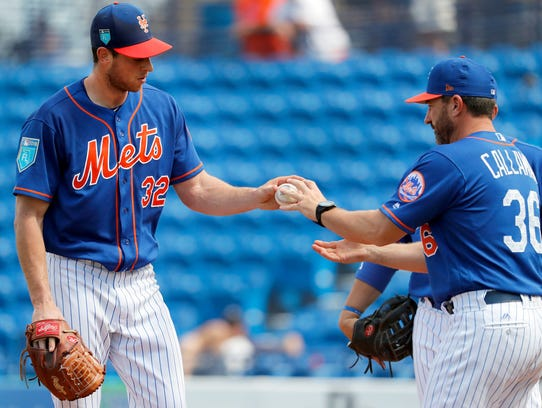 Steven Matz exits Tuesday's game.