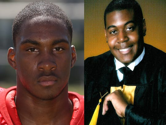 Kittim Sherrod (left), a football star from Edison,