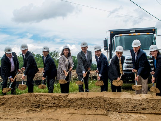 Hino Trucks broke ground Aug. 4 in Novi for a new U.S.