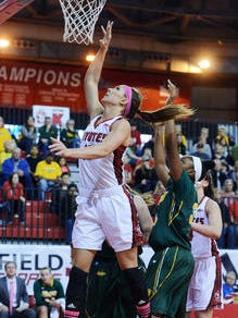 Kelly Stewart is averaging 9.5 points and 4.4 rebounds a game for the Coyotes in her senior season.