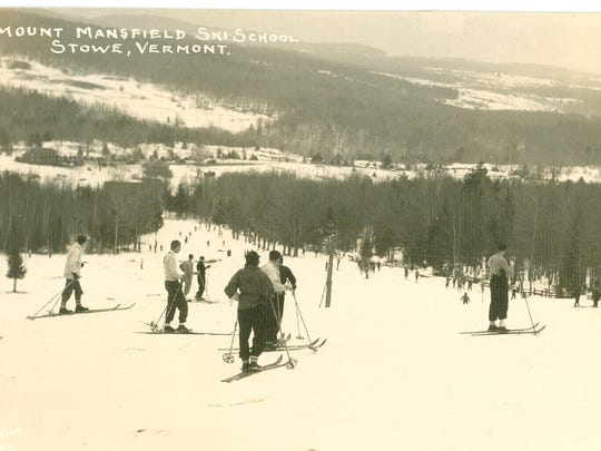 With the building of Stowe's first ski lift — a rope tow on the Toll House slopes —skiers began to flock to the resort. The lift opened on Feb. 10, 1936, and rides cost a dime.