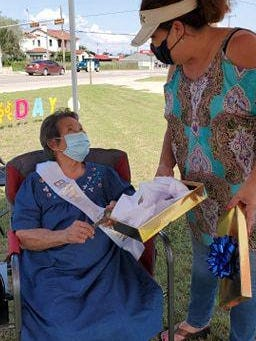 "Maria Mendez Casas. San Diego resident will be celebrating 100 years of life on Sept.,14. She was not only given a parade but also was presented a key to the city by Mayor Araseli ""Sally"" Lichtenberger."