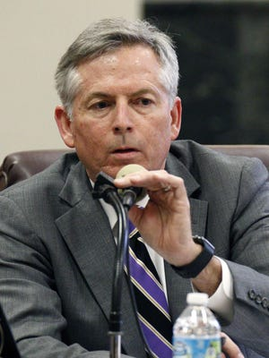 Mark Garriga, an attorney for the Mississippi Department of Education, is seeking to revoke the license of Heidelberg Elementary School Principal Lowanda Tyler-Jones, charging her with orchestrating cheating on state standardized tests in 2013 for third-grade students, at her hearing before the state teacher licensure commission Monday in Jackson.