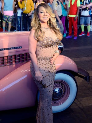 Mariah Carey arrives for her '#1 To Infinity' engagement at Caesars Palace in Las Vegas on Monday.