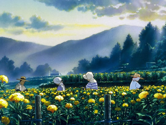 "A scene from Studio Ghibli's ""Only Yesterday."""