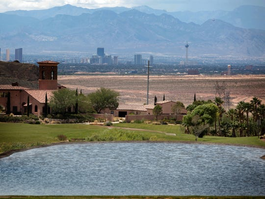 A view of Las Vegas from the Lake Las Vegas development. Reclaimed wastewater accounts for about 40 percent of the water used in southern Nevada.