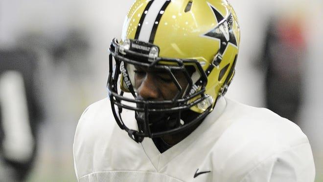 Vanderbilt sophomore receiver Jordan Cunningham has taken a leave of absence from the team, according to coach Derek Mason.