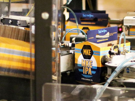 The Milwaukee Brewing Co. is incorporating the people's flag design into the packaging of its new MKE IPA beer.