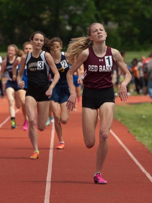 Red Bank sophomore Lauren Sapone won the 800 in a personal-best 2:15.20 for the Bucs.