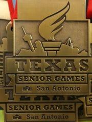 Texas Senior Games gold medal