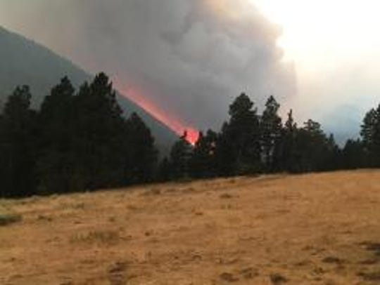 The Alice Creek Fire along the Continental Divide grew