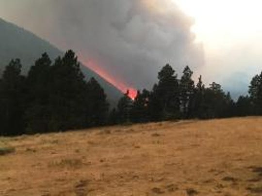 The Alice Creek Fire along the Continental Divide grew 800 acres Thursday in all directions.