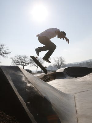 December's mild weather has had residents taking on spring-like activities.