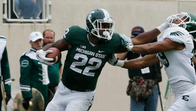Michigan State running back Delton Williams.